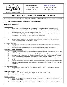 Residential Addition Attached Garage PDF Document