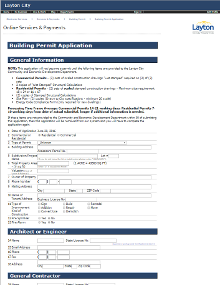Online Building Permit Application