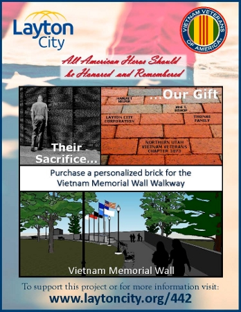 Purchase a personalized brick for the Vietnam Memorial Wall Walkway