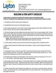 Fire and Life Safety Checklist