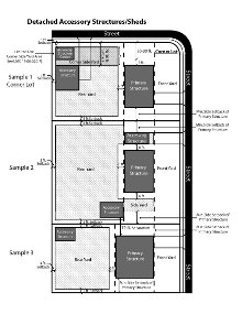 Detached Garage/Shed Sample Site Plan PDF Document