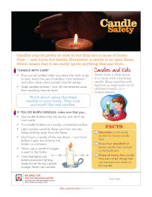 Candle Safety Tips