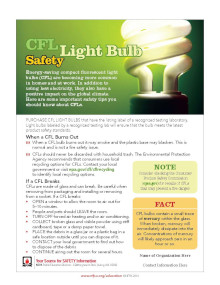 Light Bulb Safety Tips