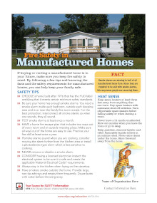 Manufactured Homes Safety Tips