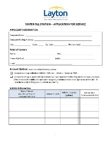 Water Fill Station Application